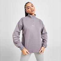 adidas Originals Repeat Linear 1/4 Zip Sweatshirt - Purple - Womens