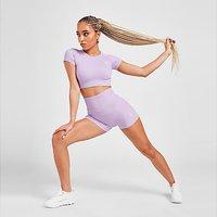 "Gym King Ribbed 3"" Shorts - Purple"