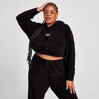 Supply & Demand Towelling Plus Size Crop Hoodie - Black - Womens