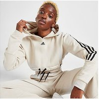 adidas 3-Stripes Micro Crop Hoodie - Aluminium  - Womens
