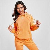 adidas Originals 3-Stripes Essential Boyfriend Hoodie - Orange - Womens