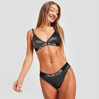 Calvin Klein Swim Sparkle Bikini Bottoms - Black - Womens