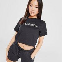 Columbia Logo Crop T-Shirt - Black - Womens