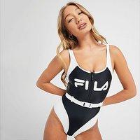Fila Belt Swimsuit - BLACK - Womens