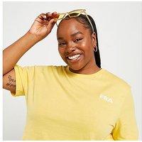Fila Core Crop Plus Size T-Shirt - Yellow