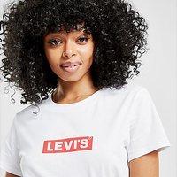 Levis Box Tab Slim T-Shirt - White - Womens