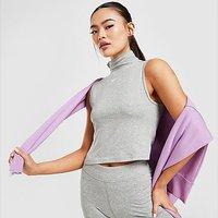 Nike Essential Mock Neck Crop Top - Dark Grey - Womens