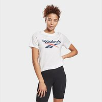 Reebok Core Logo Boyfriend T-Shirt - White - Womens