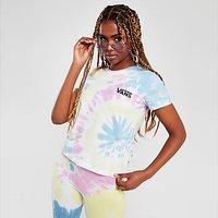 Vans Tie Dye Slim Crop T-Shirt - Multi Coloured - Womens