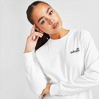 adidas Originals Linear Glossy Long Sleeve T-Shirt - White - Womens