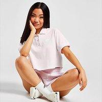 adidas Originals Tennis Crop Polo Shirt - Pink - Womens