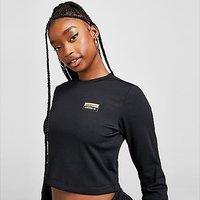 adidas Originals R.Y.V Utility Long Sleeve Crop T-Shirt - Black - Womens