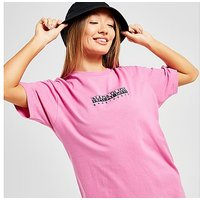 Napapijri Box Boyfriend T-Shirt - Pink - Womens