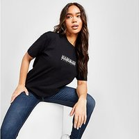 Napapijri Box Boyfriend T-Shirt - Black - Womens