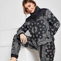 Ellesse Bandana All Over Print Jacket - Black - Womens