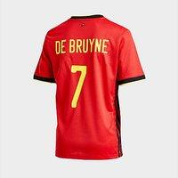 adidas Belgium 2020 Home #7 De Bruyne Shirt Junior - Red - Kids