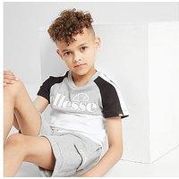 Ellesse Striva T-Shirt/Shorts Set Children - White - Kids
