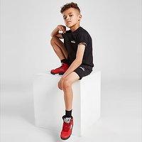 Ellesse Pollios Tape T-Shirt/Shorts Set Children - Black - Kids