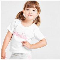 Ellesse Girls' Virina T-Shirt/Cycle Shorts Set Infant - White - Kids