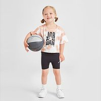 Jordan Girls' Tie Dye T-Shirt/Shorts Set Infant - Orange - Kids