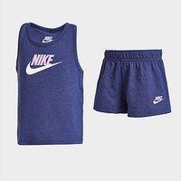 Nike Girls' Logo Tank Top/Shorts Set Infant - Blue - Kids