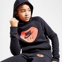 Nike Liverpool FC Fleece Overhead Hoodie Junior - Black