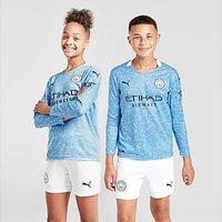 Puma Manchester City 20/21 Long Sleeve Home Shirt Jnr - Blue - Kids