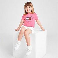 Tommy Hilfiger Girls' Circle Logo T-Shirt/Shorts Set Infant - Pink - Kids