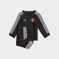 adidas Manchester United 3-Stripes Baby Jogger Set - Black