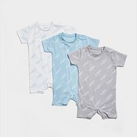 McKenzie 3-Pack Essential All Over Print Babygrow Infant - White - Kids