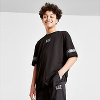 Emporio Armani EA7 Logo Series Tape T-Shirt Junior - Black - Kids