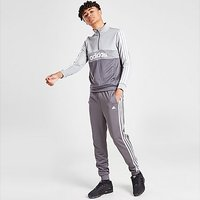 adidas 1/4 Zip Poly Tracksuit Junior - Grey - Kids