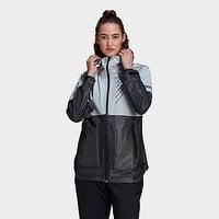 adidas Terrex 3-Layer Zupahike Rain Jacket - Halo Blue  - Womens