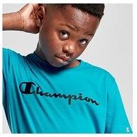 Champion Neon Logo T-Shirt Junior - Blue - Kids