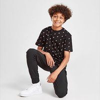 Fila Oskar All Over Print T-Shirt Junior - Black - Kids