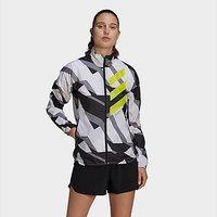 adidas Terrex Parley Agravic Trail Running WIND.RDY Windbreaker - White - Womens