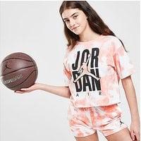 Jordan Girls' Short Sleeve Graphic Tie Dye T-Shirt Junior - Orange - Kids