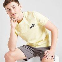 Puma Small Logo T-Shirt Junior - Yellow - Kids