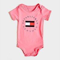 Tommy Hilfiger Girls' Circle Logo Babygrow Infant - Pink