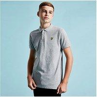 Lyle & Scott Logo Short Sleeve Polo Shirt Junior - Grey - Kids
