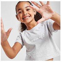 Sonneti Girls' Mini Essential Crop T-Shirt Children - Grey - Kids