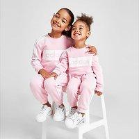 adidas Girls' Linear Essential Crew Tracksuit Children - Pink - Kids