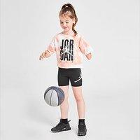 Jordan Girls' Tie-Dye T-Shirt/Shorts Set Children - Orange - Kids