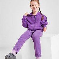 Nike Girls' Washed Full Zip Hoodie Children - Purple - Kids