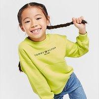 Tommy Hilfiger Girls' Essential Crew Sweatshirt Children - Green - Kids