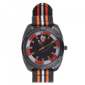 Valencia CF Nylon Strap Watch - Black-Orange-White