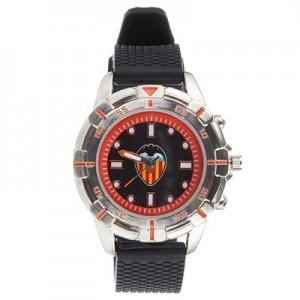 Valencia CF Silicone Strap Watch - Black-Silver-Orange - Kids