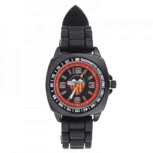 Valencia CF Silicone Strap Watch - Black-Orange - Kids