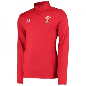 Welsh Rugby 1/4 Zip Long Sleeve Training Top - Red