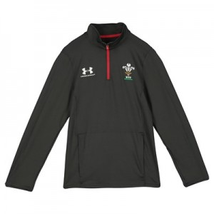 Welsh Rugby 1/4 Zip Long Sleeve Training Top - Youth - Grey